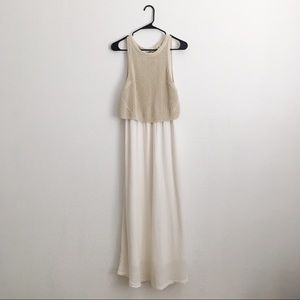 Anthropologie Moth Layered Sandstone Maxi Dress